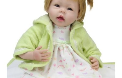 Bambola reborn sitting smiling doll