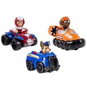 Giocattoli Paw Patrol: Tre personaggi con automezzi