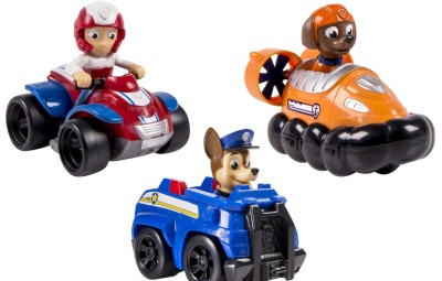 Paw Patrol Tre personaggi con automezzi